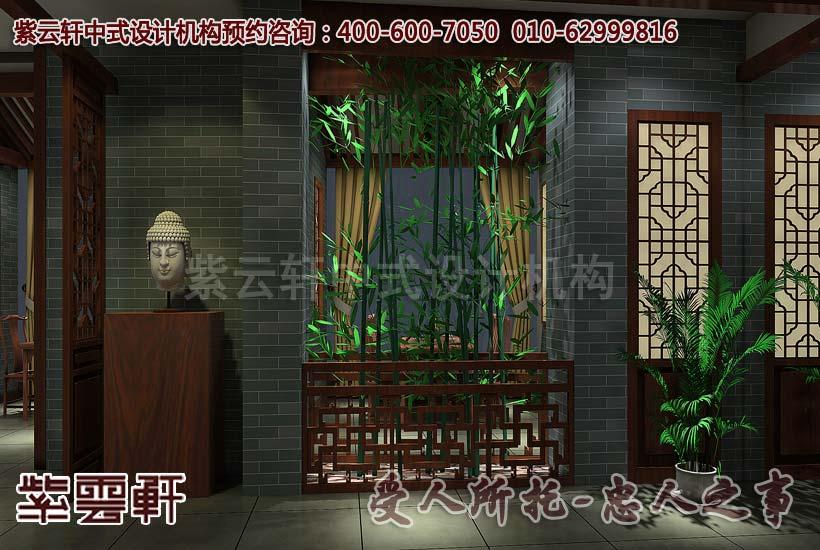 中式古典茶楼装修设计亚运村茶馆中式装修