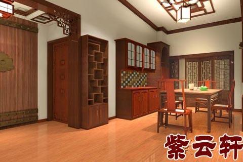 紫云轩中式装修; 演绎中式风格_160平米; 混搭新古典风格中式餐厅