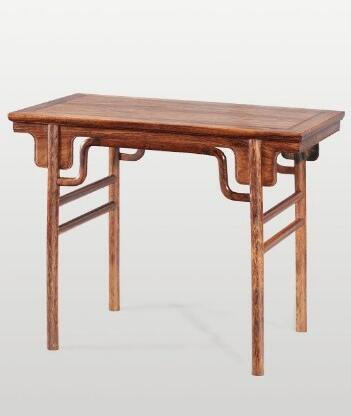 明式 黄花梨刀牙群锣锅枨小画桌