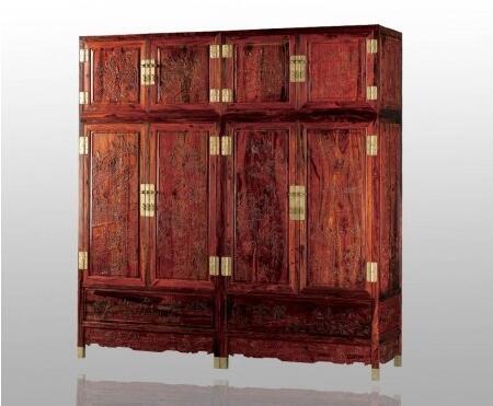 红木百子顶箱柜