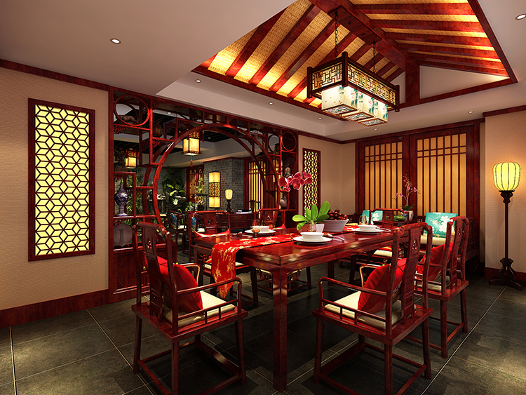 古典中式风格私人茶园—古雅幽静,为品茶者营造一方禅意风韵