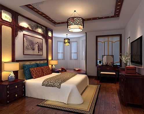北京毛先生精品住宅中式装修案例 古韵新潮,舒适浪漫