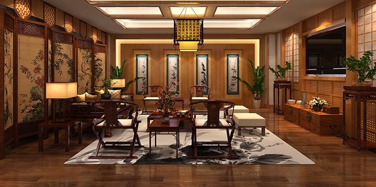 辽宁营口古典中式装修私人会所效果图 高雅格调且赋古典情怀