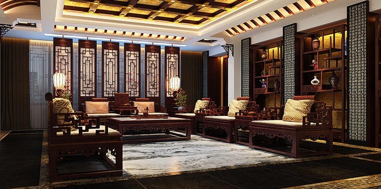 辽宁空中别墅古典中式设计 高雅契阔的文人气息