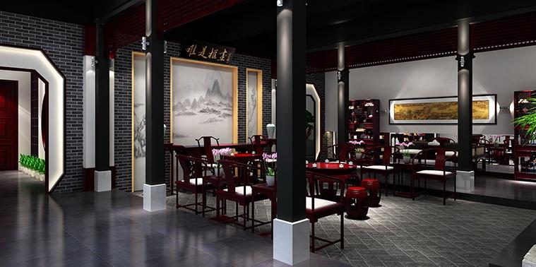 广州御品私藏红木艺术馆简约中式设计,超凡于世淡泊从容