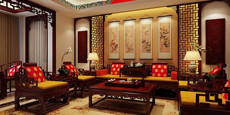 长沙湘江精品住宅中式装修设计 暗香疏影花月满楼