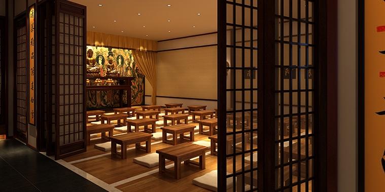 长治佛禅商务会所中式设计效果图—— 清雅恬淡的臻美古境