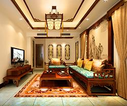 郑州简约中式复式住宅装修设计案例,一份古意盎然的清雅