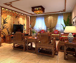 北京玉泉路曹先生精品住宅现代中式装修,颇具远古情怀的空间