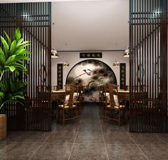 商务茶会所新中式装修设计案例——体味一份淡泊明志的宁静