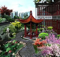 北京湾别墅古典风格装修案例图—帝都别样情怀