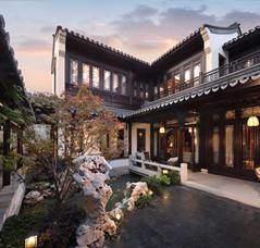 江南中式风格别墅宅院 天净水平寒月漾,水光山色两相兼