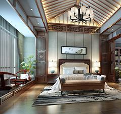 南通简约中式别墅设计案例,明朗而温馨
