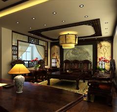 渭南办公室古典中式装修典雅大图—灵动秀美办公空间