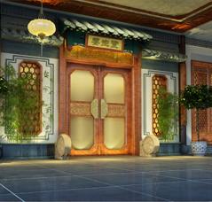 休闲会所 上海中医养生馆简约中式装修—自然 怡情