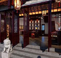酒店客栈中式装修设计-山东台儿庄古镇客栈式酒店