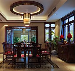 成都复式住宅古典中式设计案例—温馨舒适