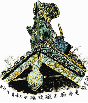 传统中式文化楼阁建筑的精华-东岳琉璃