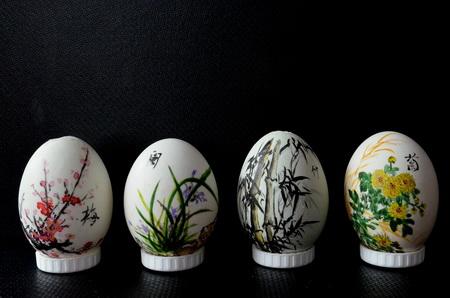 传统工艺品彩蛋画起源以及制作工序