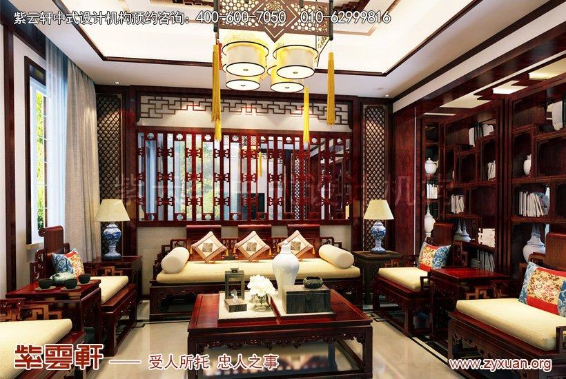 房子豪华装修图片--昆山世纪华城别墅仿古装修效果图展示