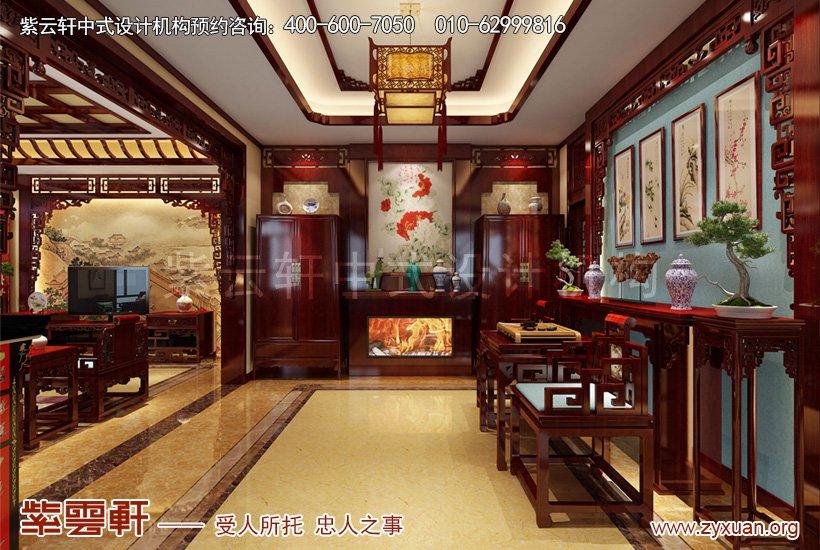门厅小中堂中式装修效果图