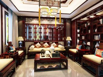 昆山世纪华城范总简约中式装修设计别墅 缱绻宁和诗意栖息地