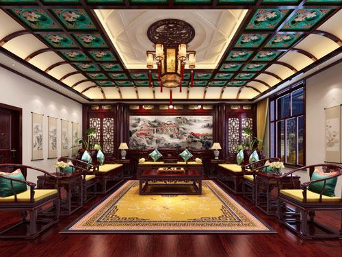 赤峰泰和王府刘总别墅中式设计案例 美轮美奂