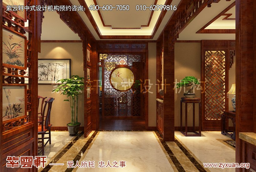 中式装修走廊