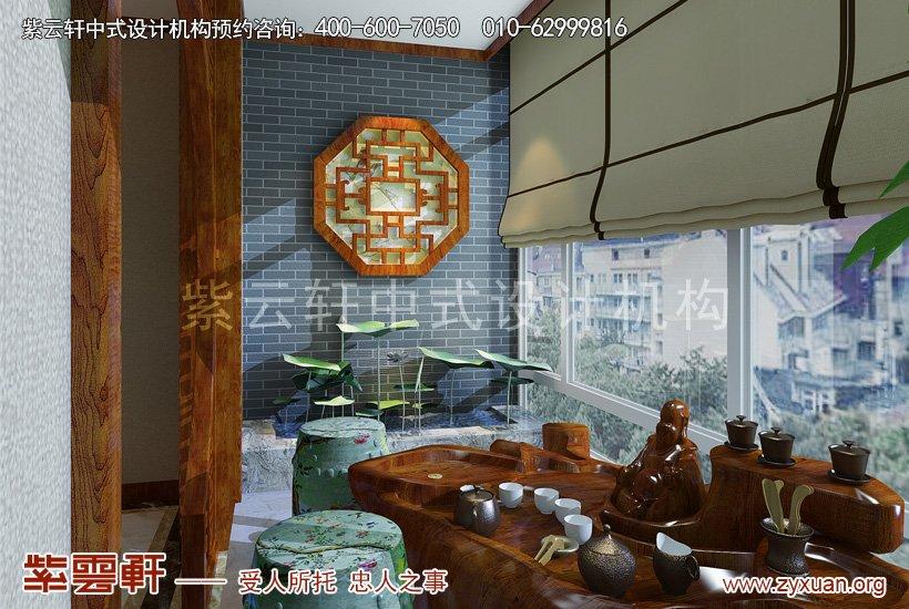 中式装修阳台