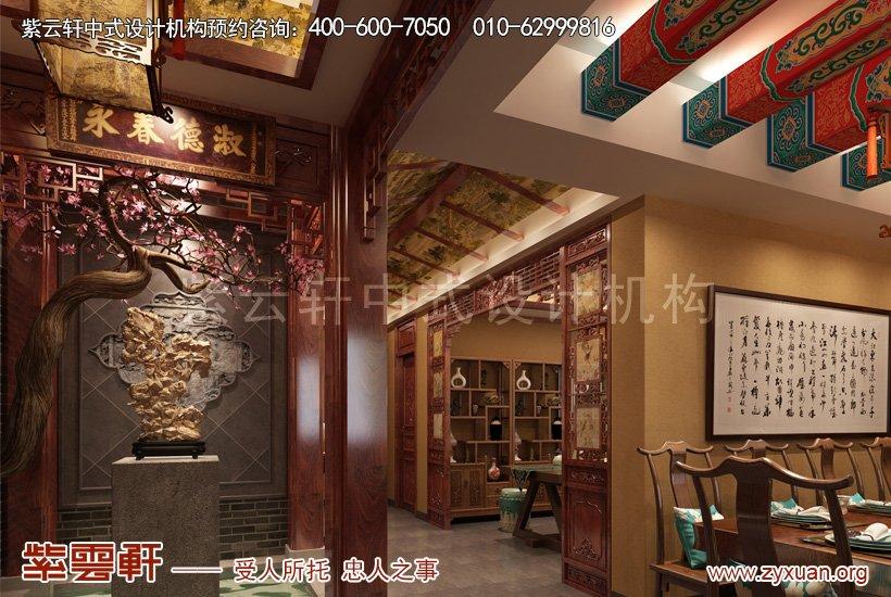 中式装修过厅