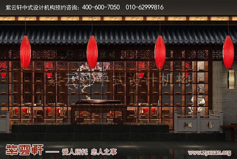 中式装修大厅演艺区