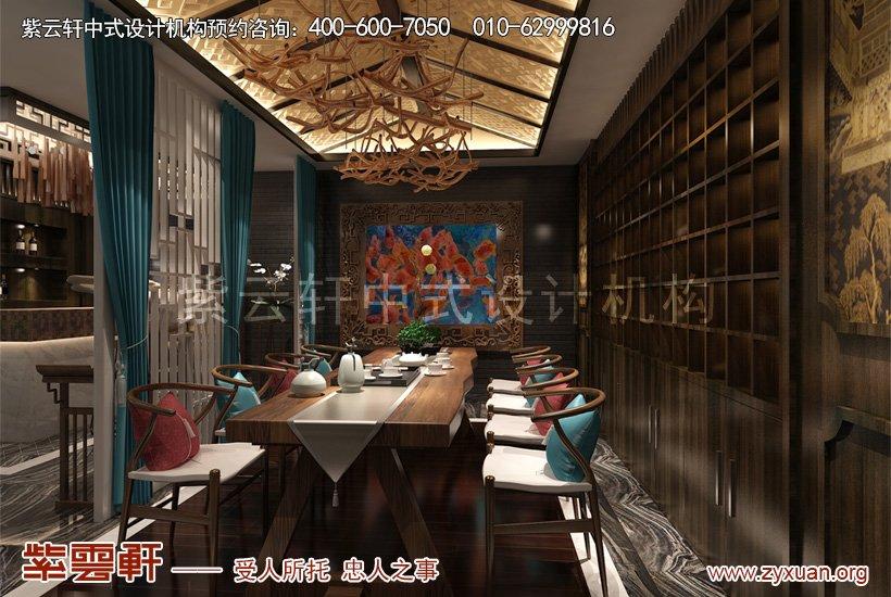中式设计大茶室