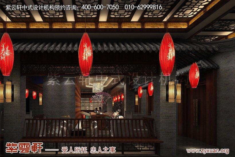 中式装修楼通道
