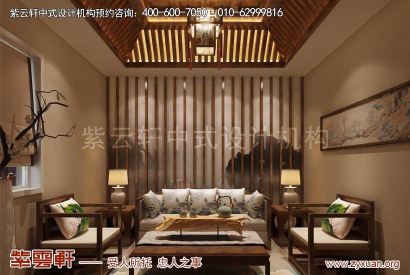 私人会所大会客厅新中式设计,古风袅绕,清香而回甘,水墨墙壁,清雅抱枕