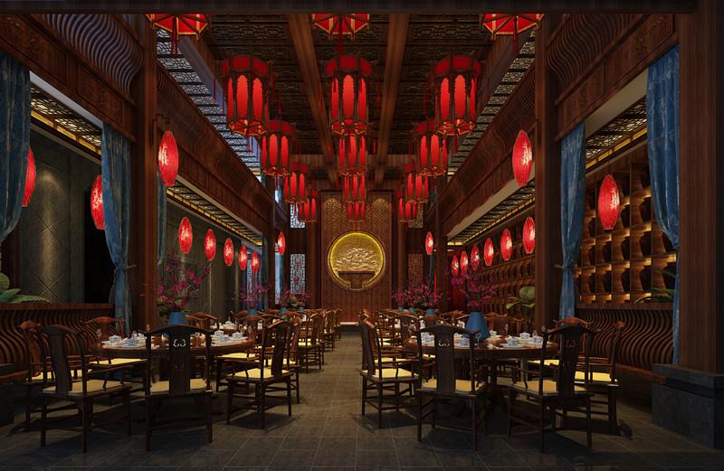 安徽池州餐饮山庄中式装修设计 旖旎的古意,清丽的画卷