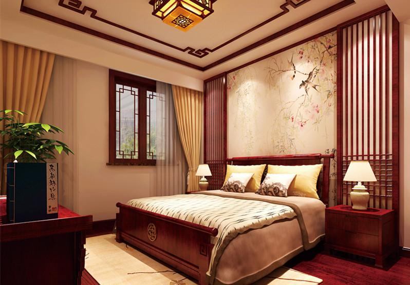 张家口韩总复式楼中式装修设计,中庸儒雅宛如诗意画境