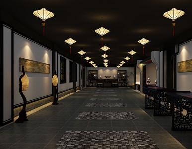 天津店面展厅红木艺术馆古典中式装修,旷古雍容雄浑华贵