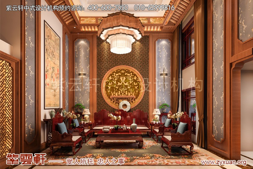 聊城东昌首府张总古典中式装修风格别墅 以木为尊点画成诗