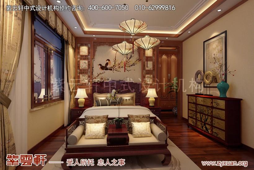 别墅中式装修卧室设计图片