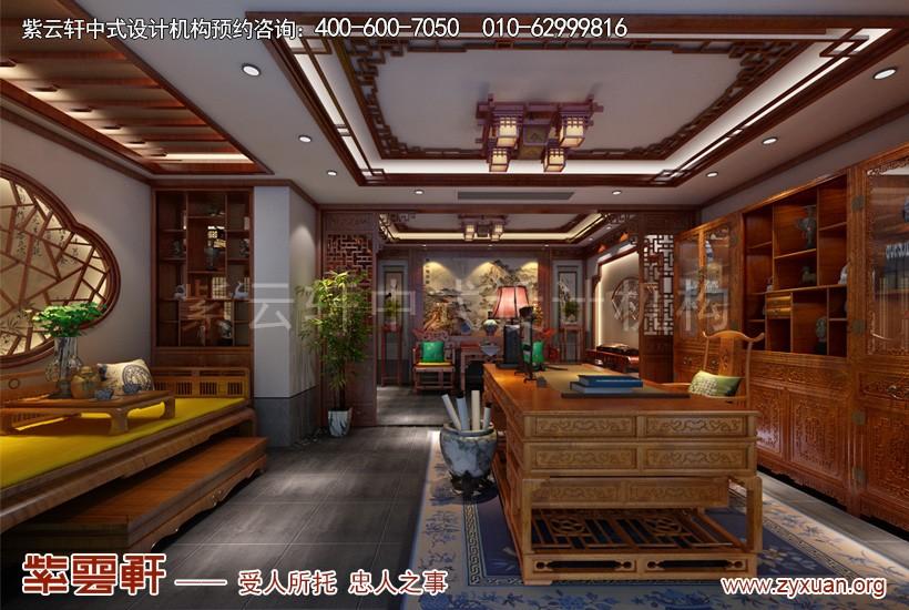 扬州唐郡中式装修设计别墅效果图 绚烂明丽又墨香幽兰