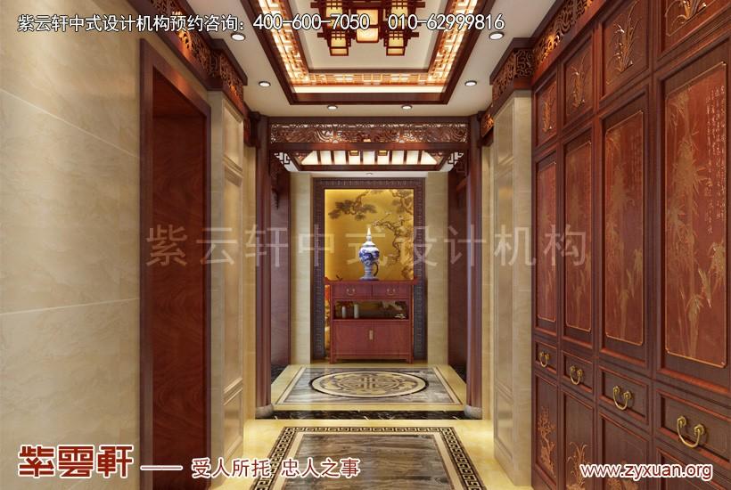 别墅中式装修玄关设计图片
