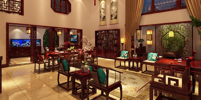 山东济南古典中式风格设计腊山别墅 景与情的极致邂逅