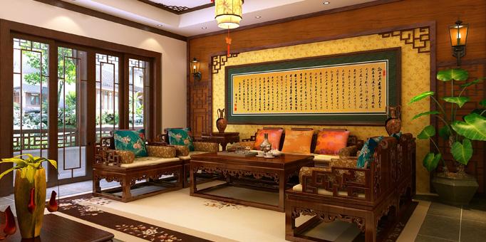 南京某别墅简约古典中式装修-尽显雍容高贵