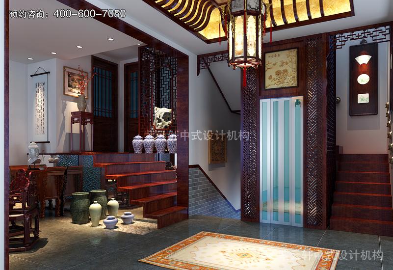 天津刘宅简约复古中式风格装修效果图