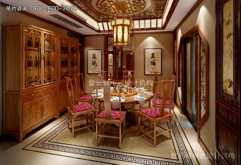 独栋别墅复古装修效果图展示_紫云轩中式装修设计机构
