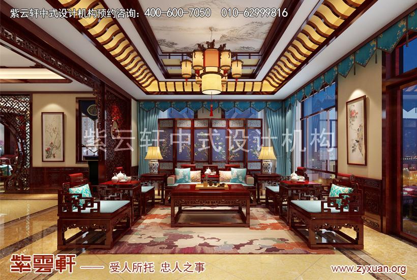 北京小汤山别墅中式装修设计赏析 木香花格意未尽