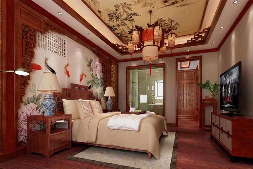 哈尔滨豪华平层中式设计方案 瀚海风范嗅余韵