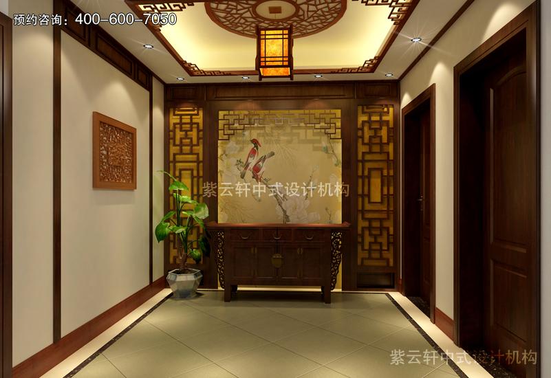 高档的复古装修效果图最讲究室内风水格局_紫云轩中式