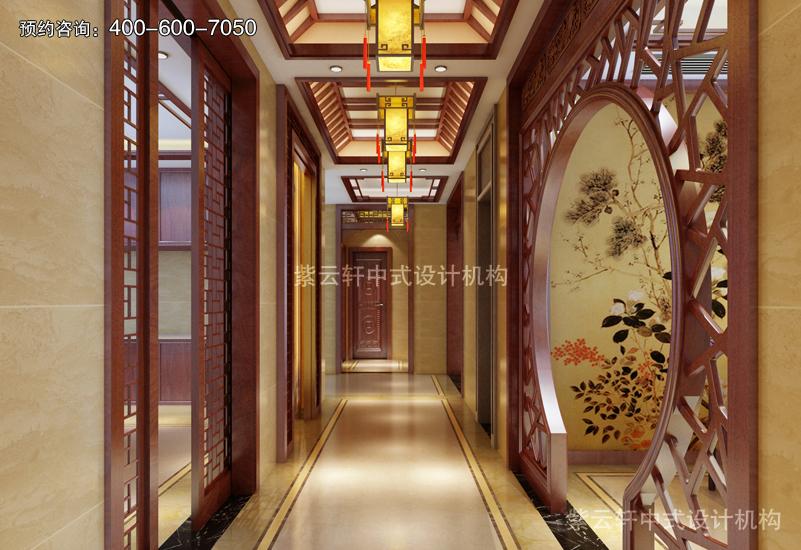 走廊复古装修效果图
