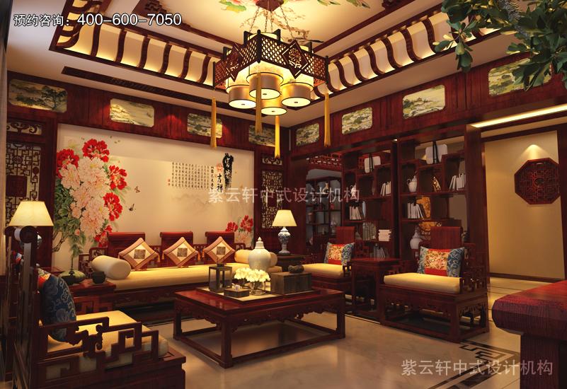 客廳復古風格裝修圖片